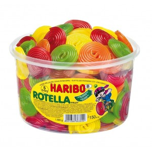 Rotella Fruit 150 pcs Tubo (1,2kg) Haribo