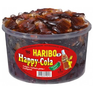 Happy Cola Grand 150 pcs Tubo (1,2kg) Haribo